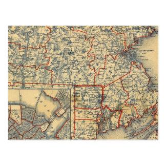Mass, RI Postcard