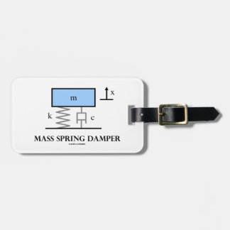 Mass Spring Damper (Physics Diagram) Bag Tag