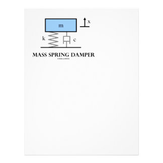 Mass Spring Damper (Physics Diagram) Letterhead