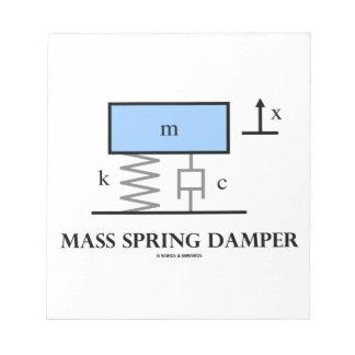 Mass Spring Damper (Physics Diagram) Notepad