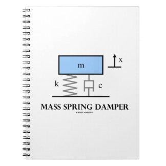 Mass Spring Damper (Physics Diagram) Spiral Notebooks