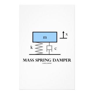 Mass Spring Damper (Physics Diagram) Stationery