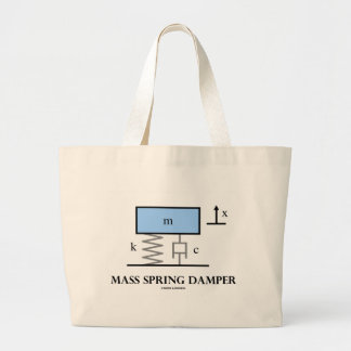 Mass Spring Damper (Physics) Large Tote Bag