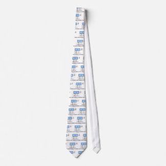 Mass Spring Damper (Physics) Neck Tie