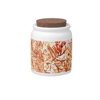 mass succulent invert orange abstract pattern candy jar