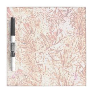 mass succulent invert orange abstract pattern Dry-Erase board