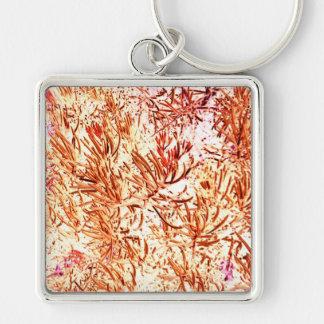 mass succulent invert orange abstract pattern key chain