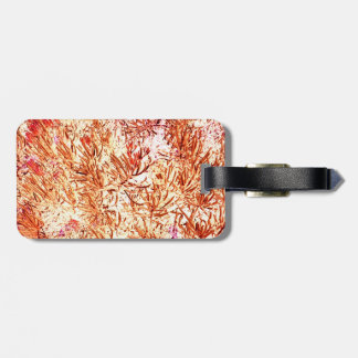mass succulent invert orange abstract pattern tag for luggage