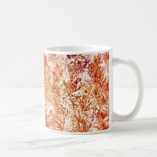 mass succulent invert orange abstract pattern mug
