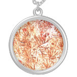 mass succulent invert orange abstract pattern necklace