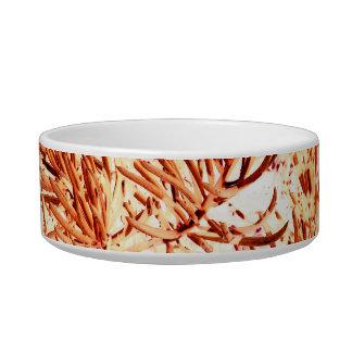 mass succulent invert orange abstract pattern pet bowls