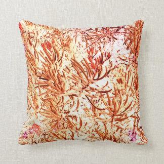mass succulent invert orange abstract pattern throw pillow