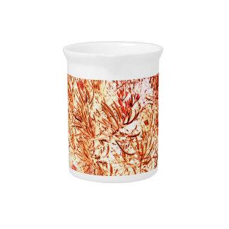 mass succulent invert orange abstract pattern pitcher