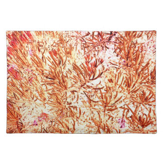 mass succulent invert orange abstract pattern placemat