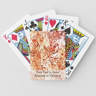 mass succulent invert orange abstract pattern bicycle card deck