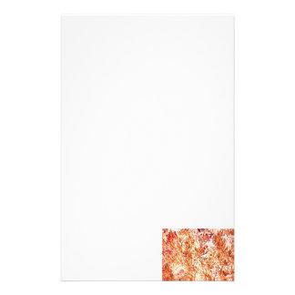mass succulent invert orange abstract pattern custom stationery