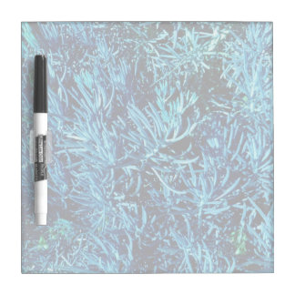 mass succulent stems abstract blue pattern Dry-Erase board