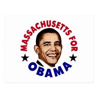 Massachusets For Obama Postcard