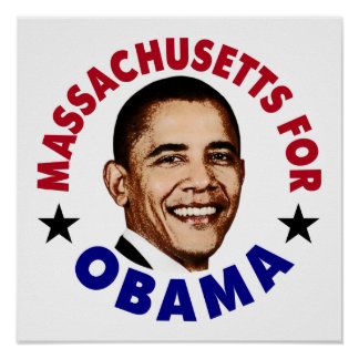Massachusets For Obama Posters