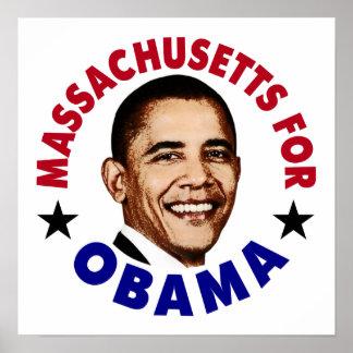 Massachusets For Obama Poster