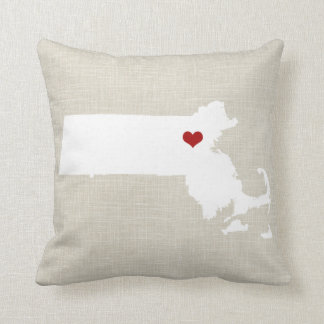 """Massachusettes New Home State Pillow 16"""" x 16"""""""