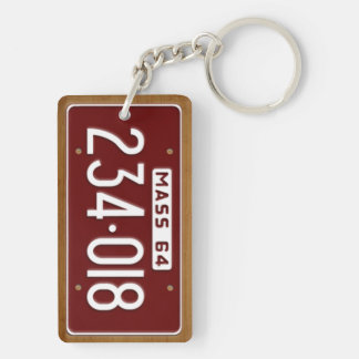 Massachusetts 1964 Vintage License Plate Keychain