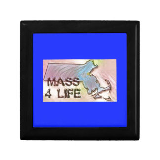 """Massachusetts 4 Life"" State Map Pride Design Jewelry Box"