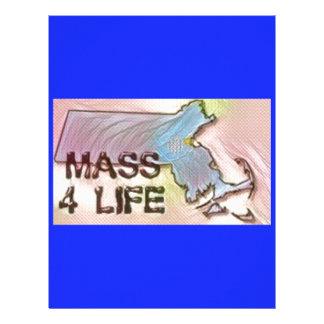 """""""Massachusetts 4 Life"""" State Map Pride Design Letterhead"""