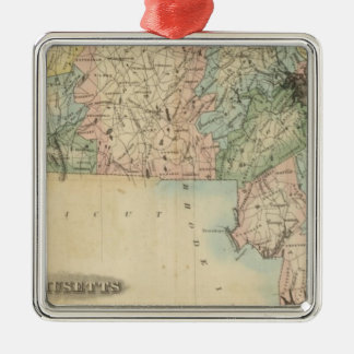 Massachusetts 5 metal ornament