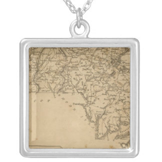 Massachusetts 5 silver plated necklace