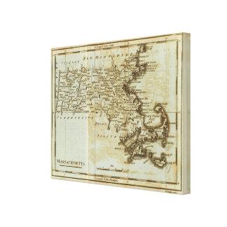 Massachusetts 6 stretched canvas print