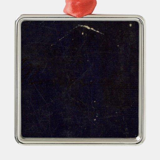 Massachusetts 6 square metal christmas ornament