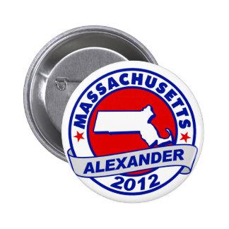 Massachusetts Alexander Button