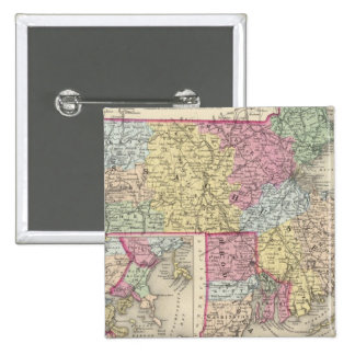 Massachusetts And Rhode Island 2 2 Inch Square Button