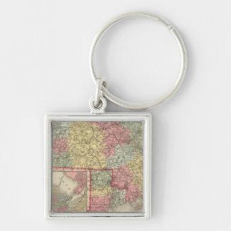 Massachusetts and Rhode Island 2 Keychain