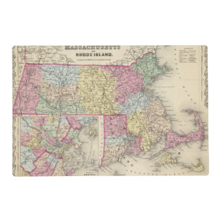 Massachusetts And Rhode Island 2 Placemat