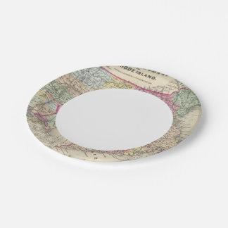 Massachusetts And Rhode Island 2 7 Inch Paper Plate