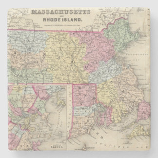 Massachusetts And Rhode Island 2 Stone Coaster
