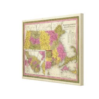 Massachusetts And Rhode Island Canvas Print
