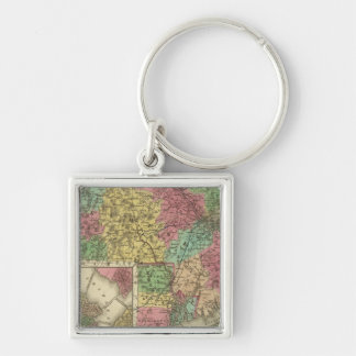 Massachusetts And Rhode Island Keychain