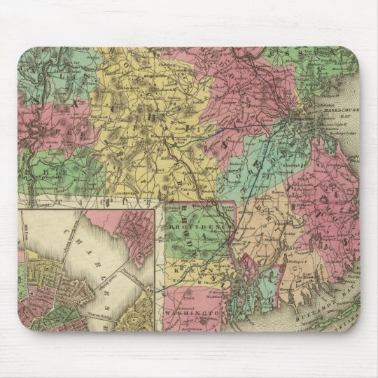 Massachusetts And Rhode Island Mouse Pad
