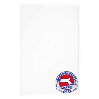 Massachusetts Andy Martin Personalized Stationery