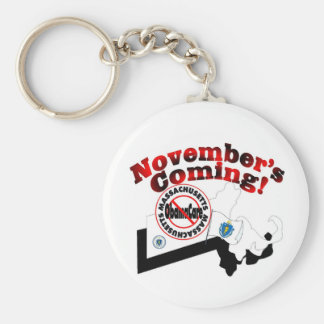 Massachusetts Anti ObamaCare – November's Coming! Keychain