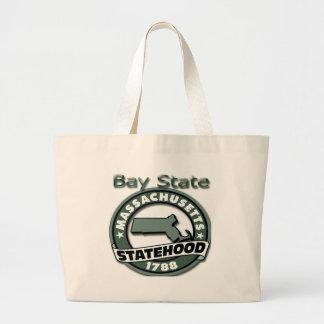 Massachusetts Bay State Statehood 1788 Jumbo Tote Bag