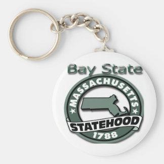 Massachusetts Bay State Statehood 1788 Basic Round Button Keychain