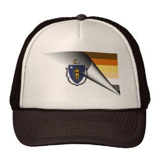 Massachusetts Bear Pride Flag Mesh Hat