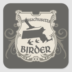 Massachusetts Birder Square Sticker