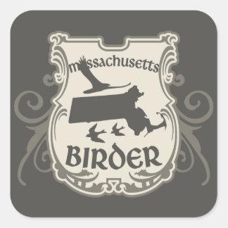 Massachusetts Birder Square Sticker