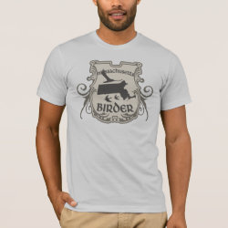 Men's Basic American Apparel T-Shirt with Massachusetts