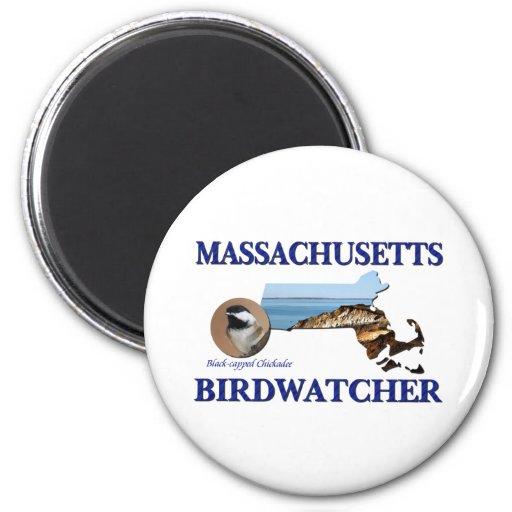 Massachusetts Birdwatcher Fridge Magnets